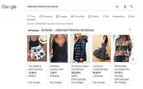 integration produit google